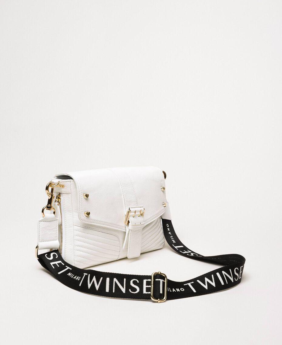 Mittelgroße Rebel Bag mit Logotrageriemen Weiß Schnee Frau 201TO823X-01