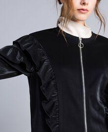 Sweat en tissu technique avec ruches Noir Femme IA85AA-04