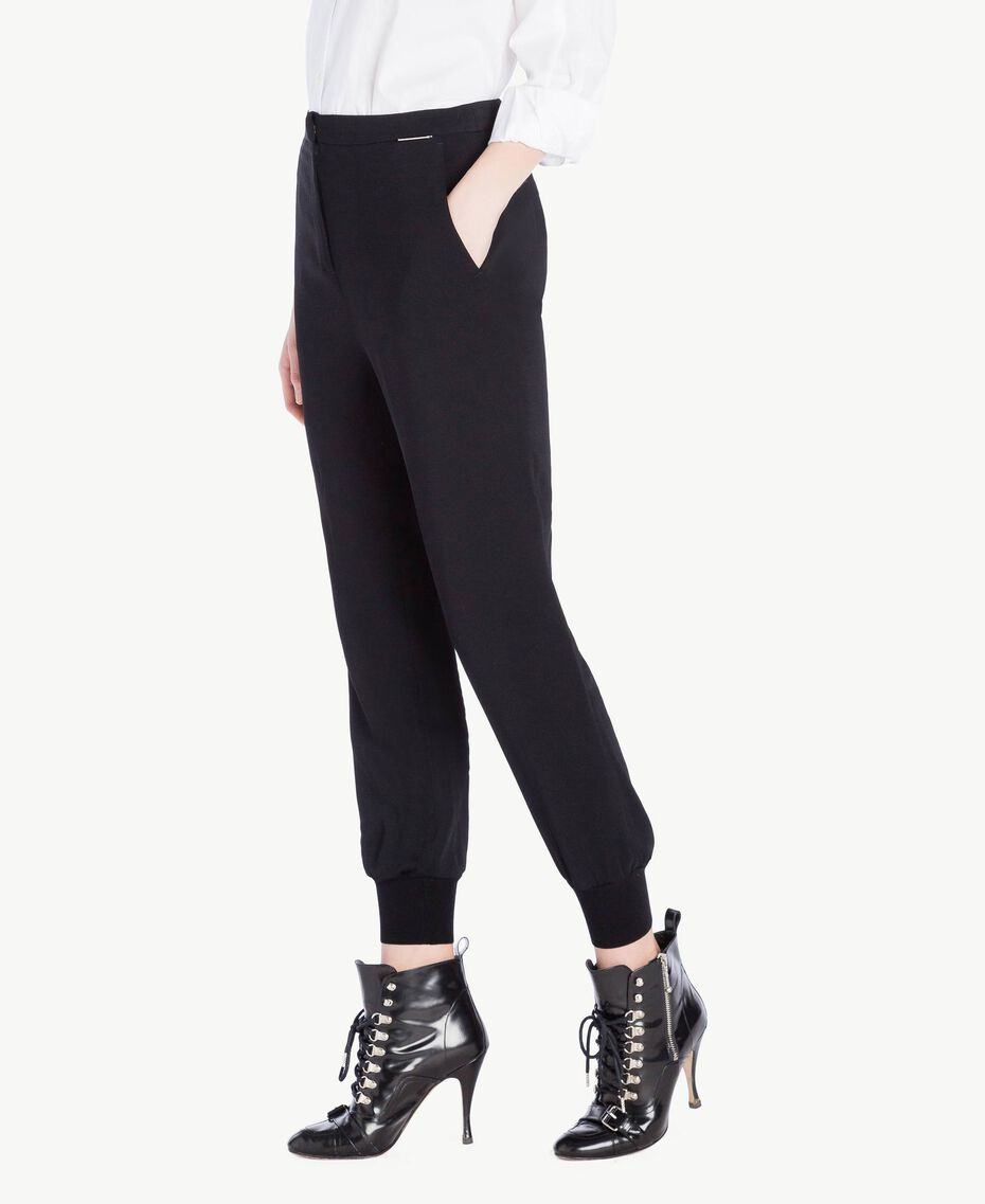 Georgette trousers Black Woman PS8258-02