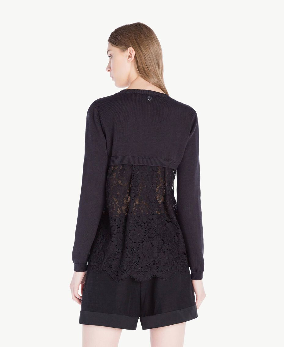 Lace cardigan Black Woman PS8372-03