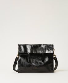 Foldable Twinset Bag leather shopper Black Woman 202TB7099-01