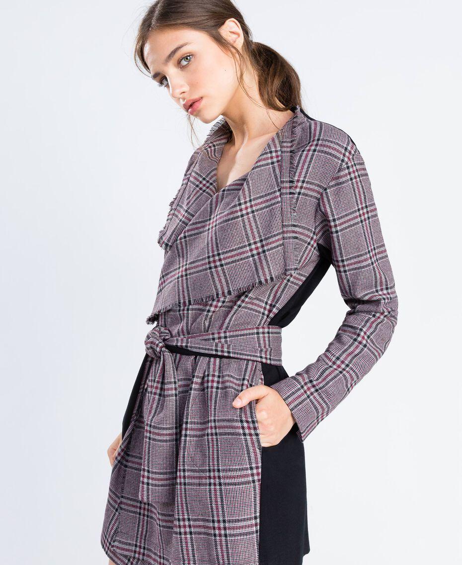 """Scottish flannel dressing gown """"Reddish"""" Red Tartan Print Woman LA8NEE-02"""