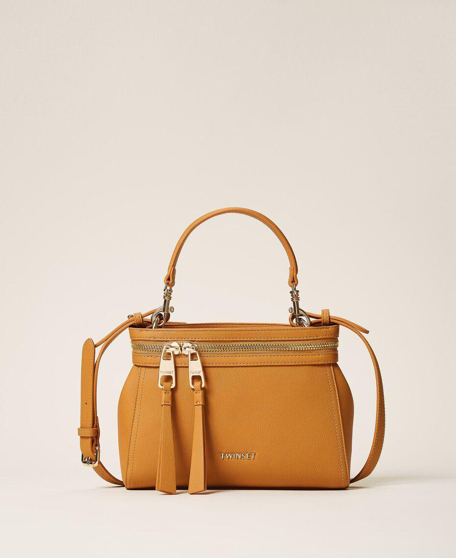 Kleine New Cécile Bag aus Lederimitat Golden Yellow Frau 202TB7181-03