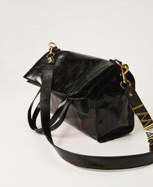 Foldable Twinset Bag leather shopper Black Woman 202TB7099-03