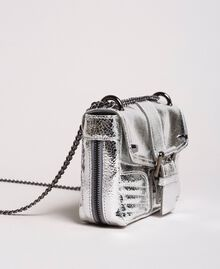 Laminated leather Rebel shoulder bag Silver Woman 191TO8640-01