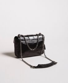 Rebel leather shoulder bag Black Woman 191TA7237-03