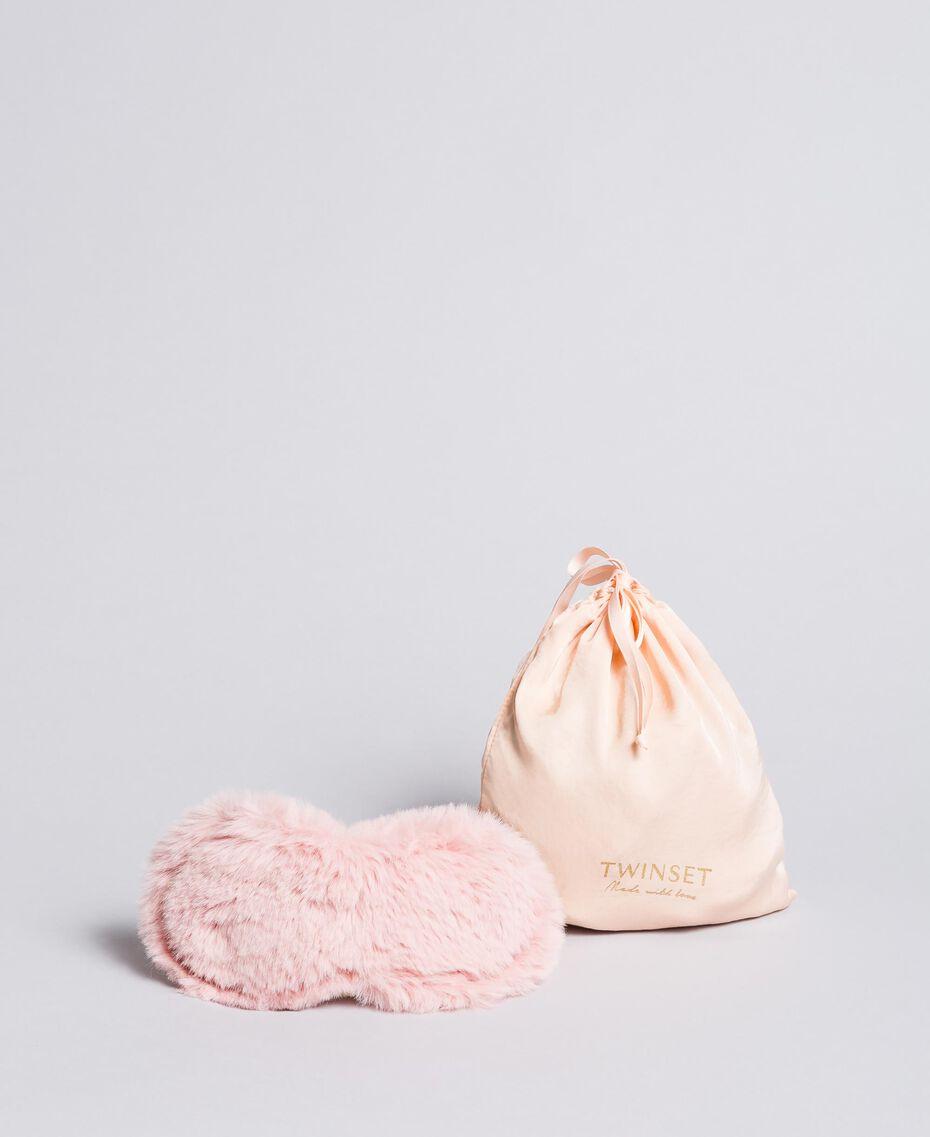 Schlafmaske aus Pelzimitat Ballerinarosa Frau LA8ZHH-02