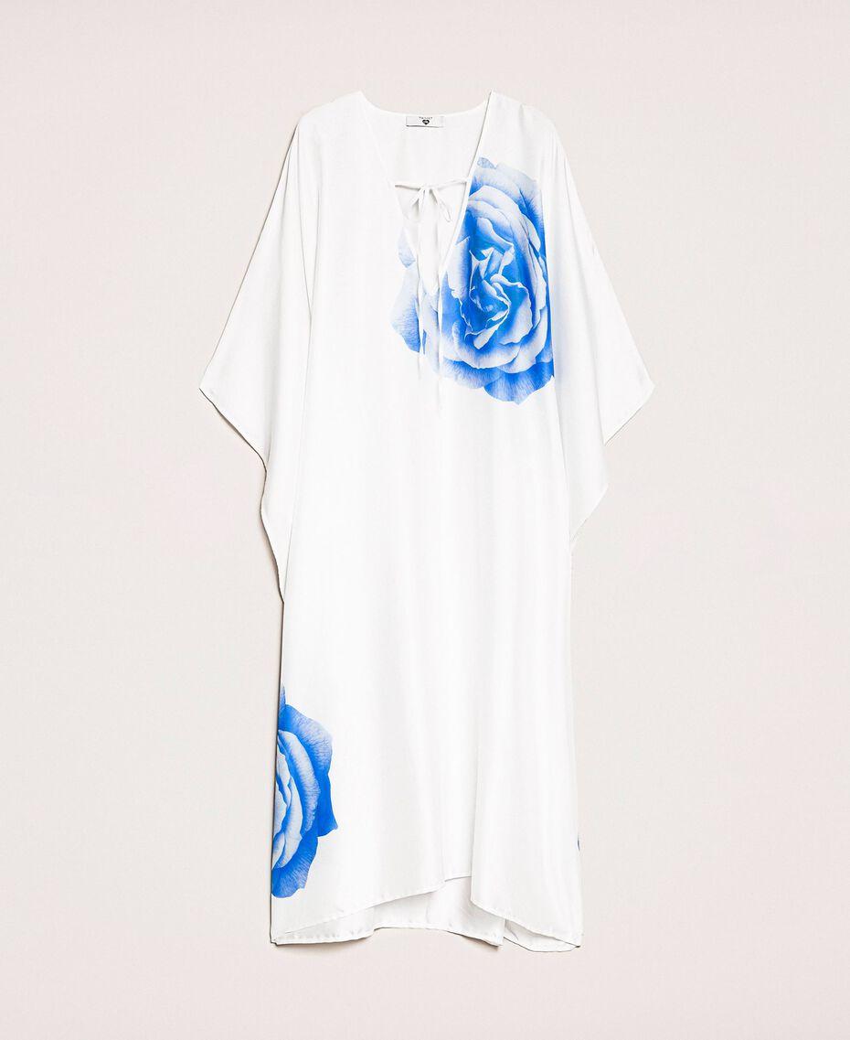 Kaftan with print White Rose Print Woman 201LB28NN-0S