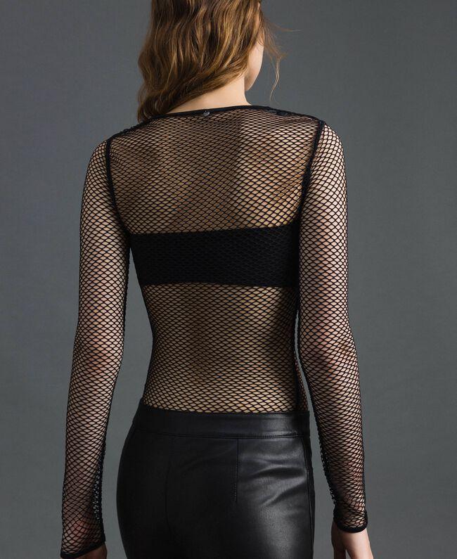 Body en filet Noir Femme 192TP2770-03