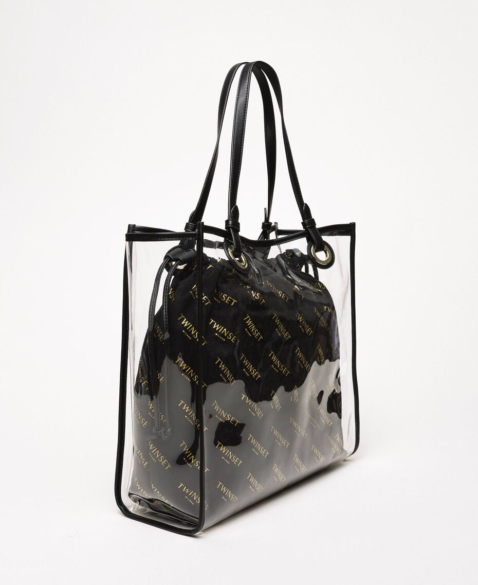 Shopper with logo sack White Woman 201TA7180-03