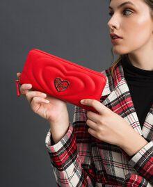 Portefeuille en similicuir Rouge Coquelicot Femme 192MA7087-0S