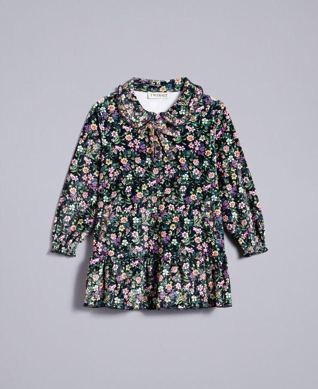 """Kleid mit Blumenprint Print """"Mikroblumen"""" Kind FA82TB-01"""