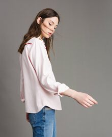 Denim shirt with butterfly Pink Pearl Woman 191TP2630-03