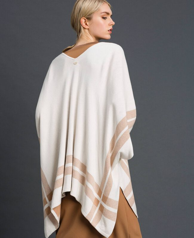 Reversible knit cape Cream / Nude Beige Woman 192LI3ZBB-03