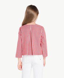 Gingham jacket Gingham / Pomegranate Red Jacquard Child GS82ZA-04