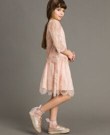 Jersey dress and lace blouse Blossom Pink Child 191GJ2740-02