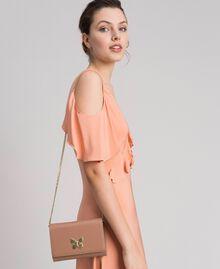 Petit sac à bandoulière avec fermoir papillon Rose Mousse Femme 192TA7022-0S