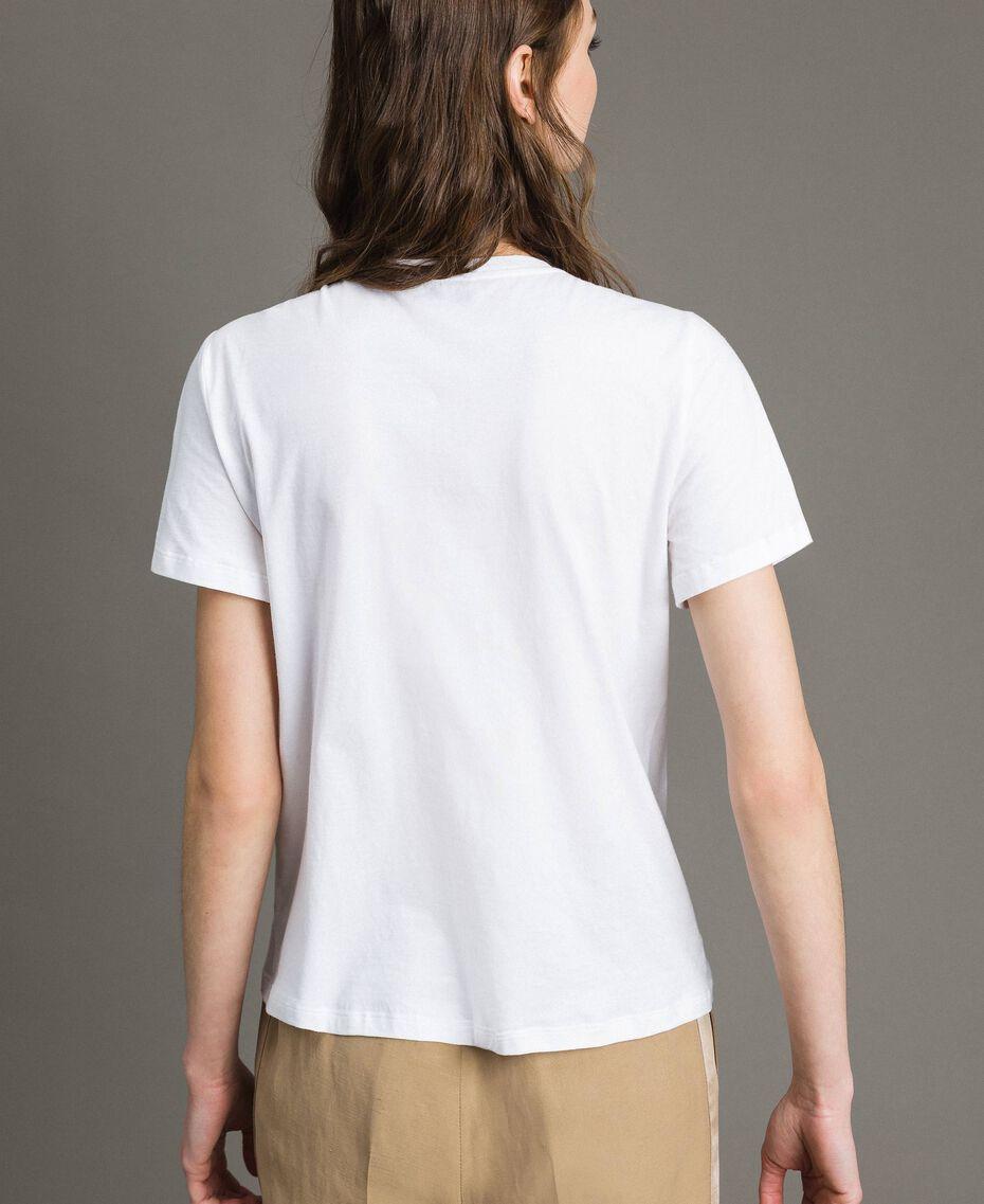 T-shirt avec broderie et franges Blanc Femme 191TT2204-03