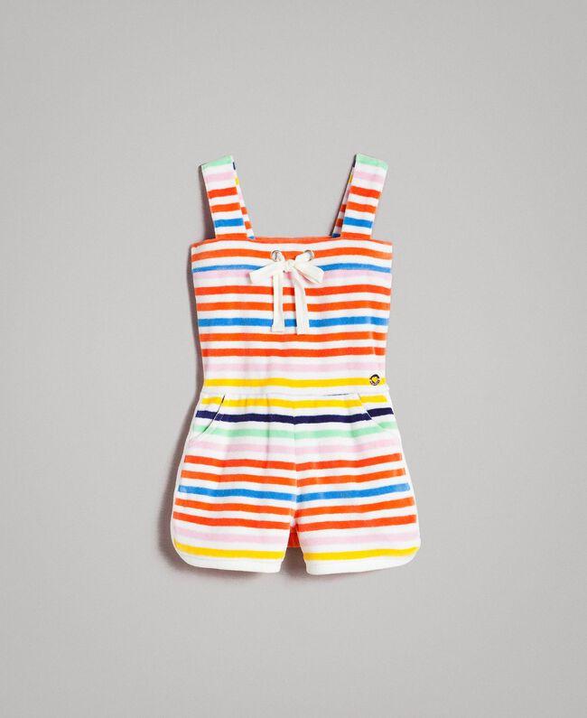 Multicolour striped jumpsuit Multicolour Striping Child 191GB2221-01