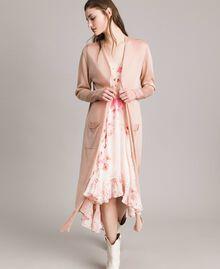 Lurex maxi cardigan Light Pearl Pink Lurex Woman 191TP3220-02