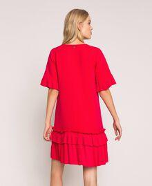 Georgette dress with pleats Black Woman 201TP2026-03