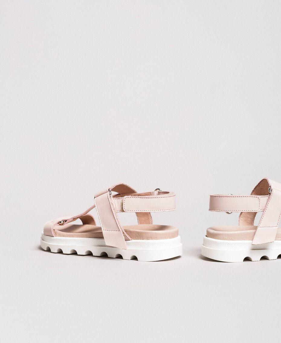 Leather sandals Blossom Pink Child 191GCJ100-02