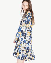 Printed dress Flat Flower Print Placid Blue Woman SS82PC-04