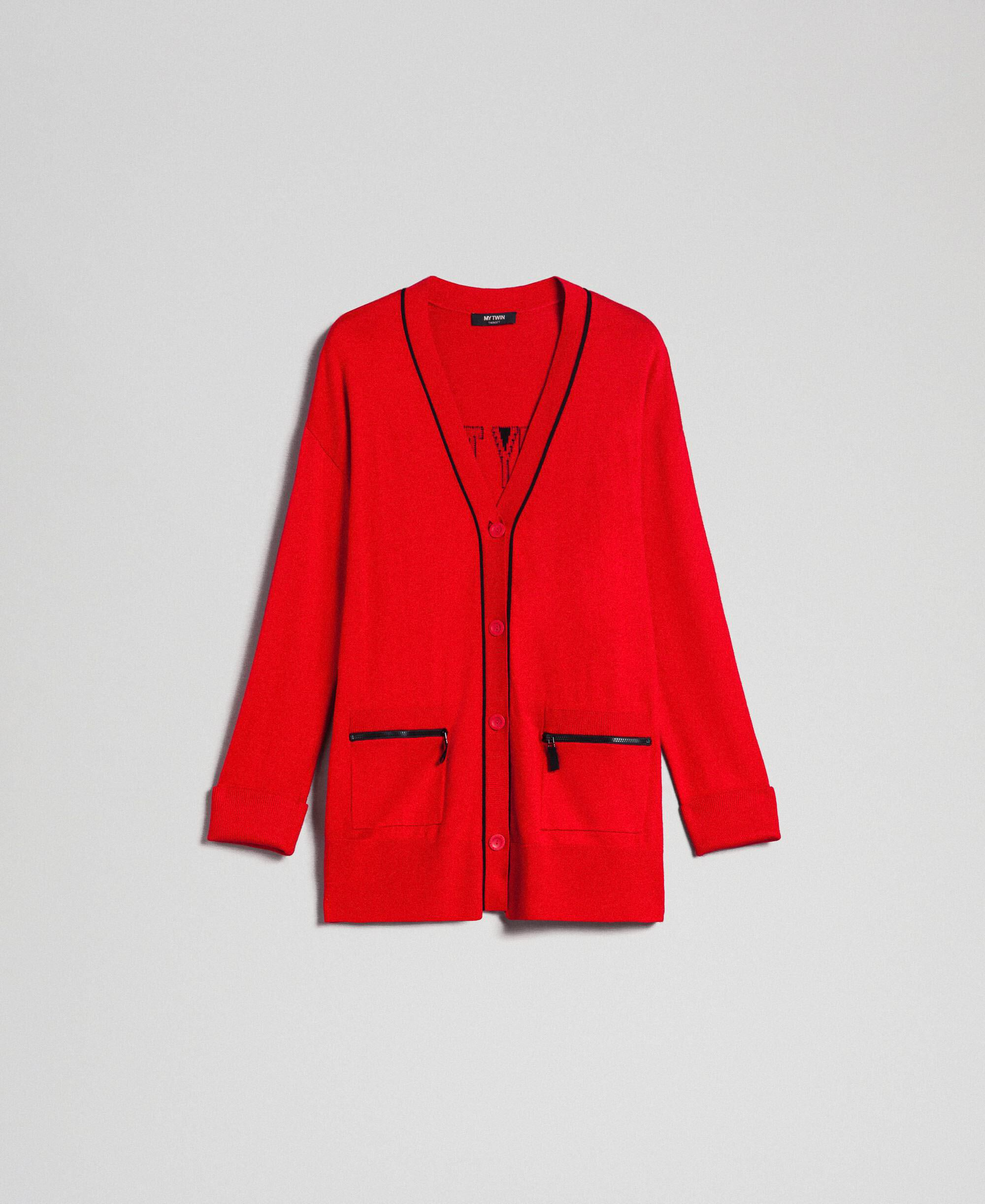X two Red Damayanti Cardigan Giacca Donna Plus dimensioni Lagenlook