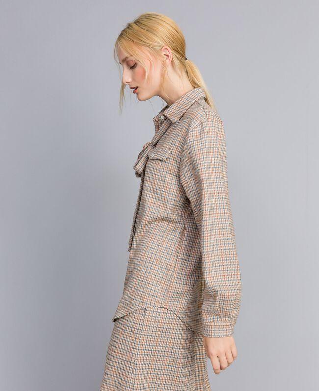 Printed flannel shirt Multicolour Check Woman TA8215-04