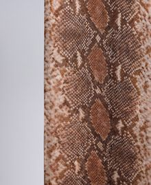 Animal print silk scarf Chocolate Snake Print Woman AA8P15-02
