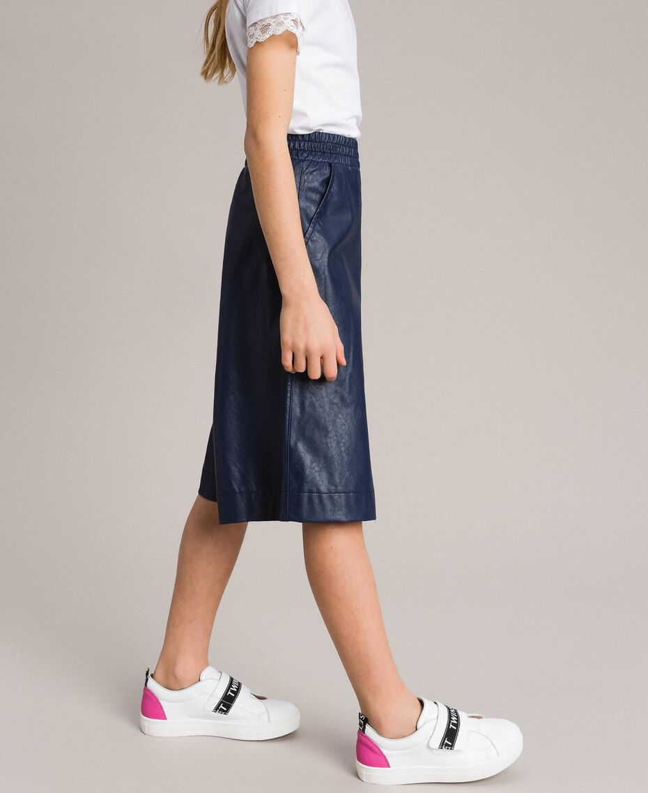 Faux leather cropped trousers Indigo Child 191GJ2100-02