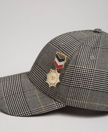 Baseball hat with brooch Prince of Wales Woman 192MA4350-02