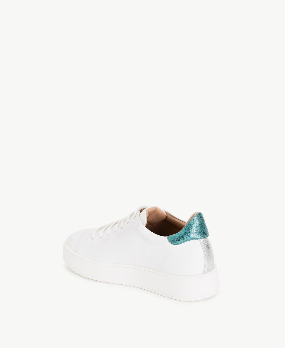 TWINSET Sneaker mit Herzen Weiß Frau CS8PNC-03