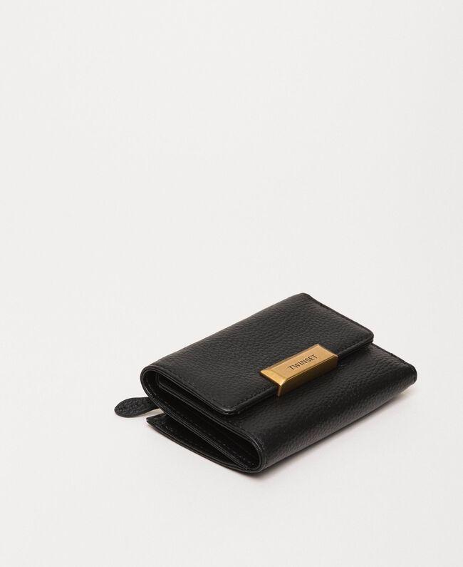 Mittelgroße Bea Bag Geldbörse aus Leder Schwarz Frau 201TA7033-01