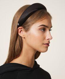 Satin headband with rhinestone charm Black Woman 202TA430F-0S