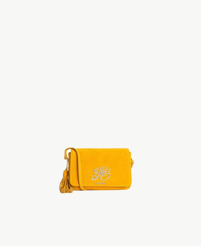TWINSET Logo shoulder bag Ochre Yellow Woman OS8TEA-01
