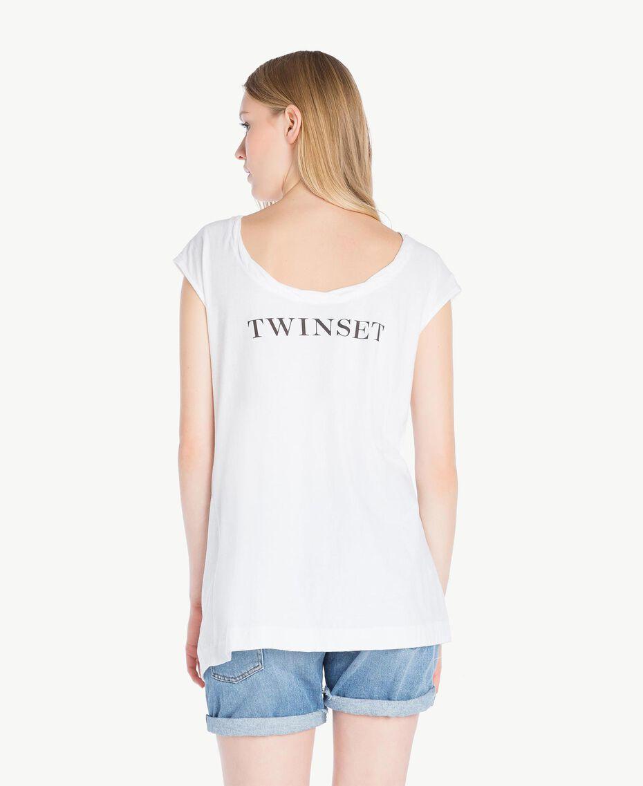 T-Shirt mit Stickerei Weiß Frau YS825M-03