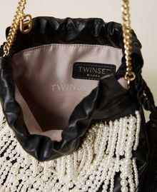 Sac modèle sacchetto avec franges de perles Noir Femme 212TB7300-05
