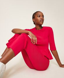 "Knit trousers ""Cerise"" Fuchsia Woman 202MP3104-04"