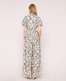 """Floral crêpe de Chine jumpsuit """"Quartz"""" Pink Flowered Print Woman 201MP2372-04"""