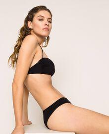 Bandeau bikini top with heart Black Woman 201LBMCWW-02