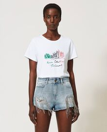 T-shirt with Love Italia embroidery White Woman 211TT2500-02
