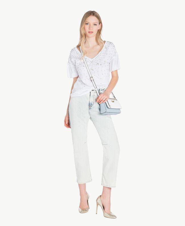 T-shirt broderie Blanc Femme YS82E3-05