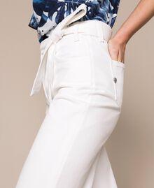 "Jeans wide leg bianco con cintura Bianco ""Ice"" Donna 201MT2363-04"