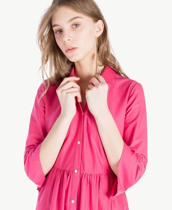 Langes Kleid aus Popeline Provocateur Pink Frau TS821B-04