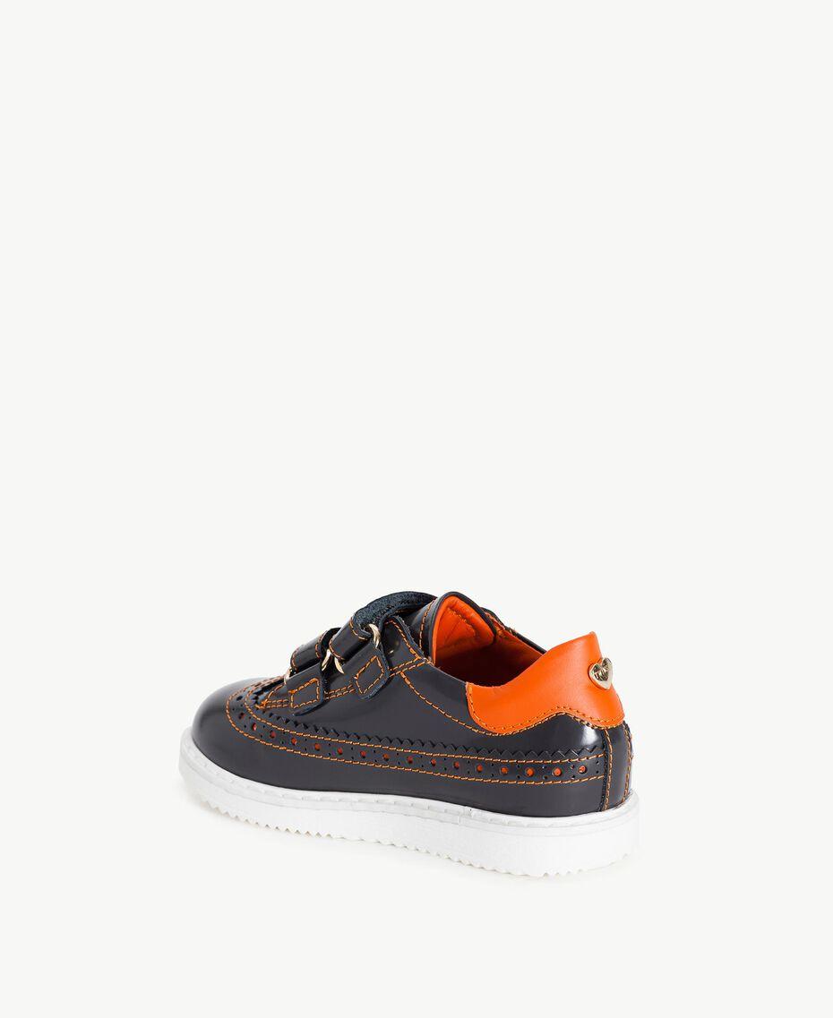 Leather lace-up shoes Lava Grey / Orange Female HA76A3-03