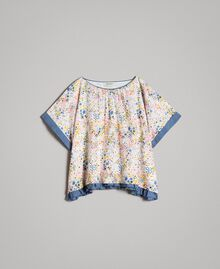 Muslin blouse with print Mini Stars Print Child 191GJ2531-01