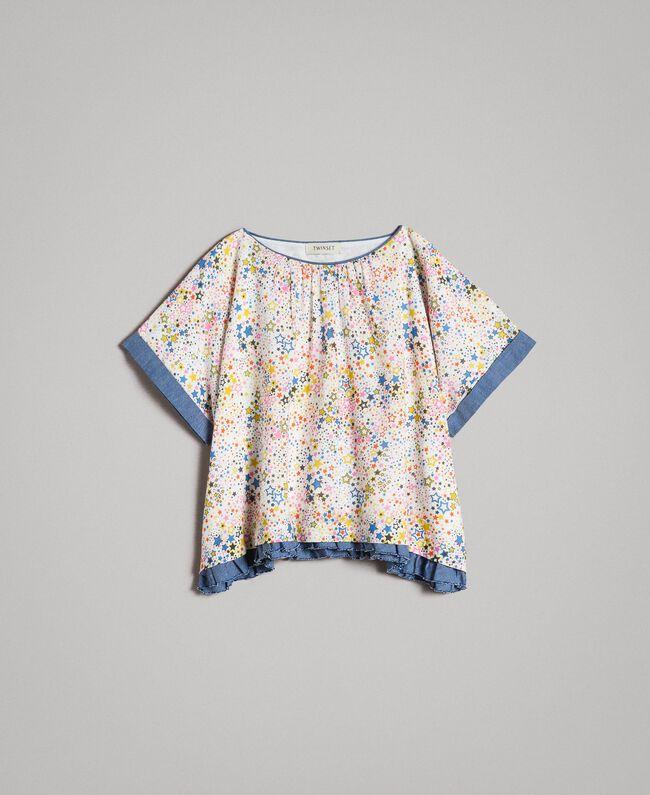 Muslin blouse with print Mini Stars Print Child 191GJ2531-01