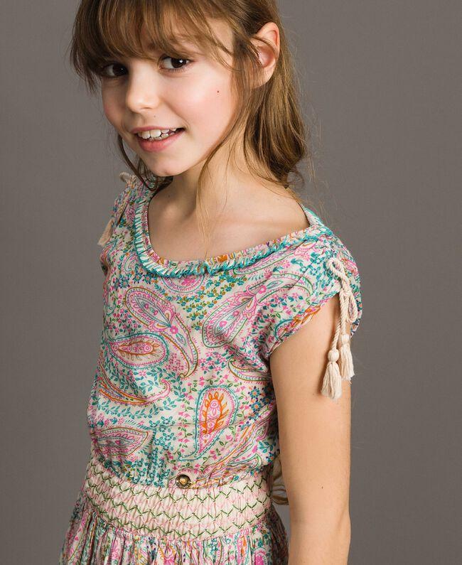 Muslin dress with paisley print Paisley Print Child 191GJ2510-04