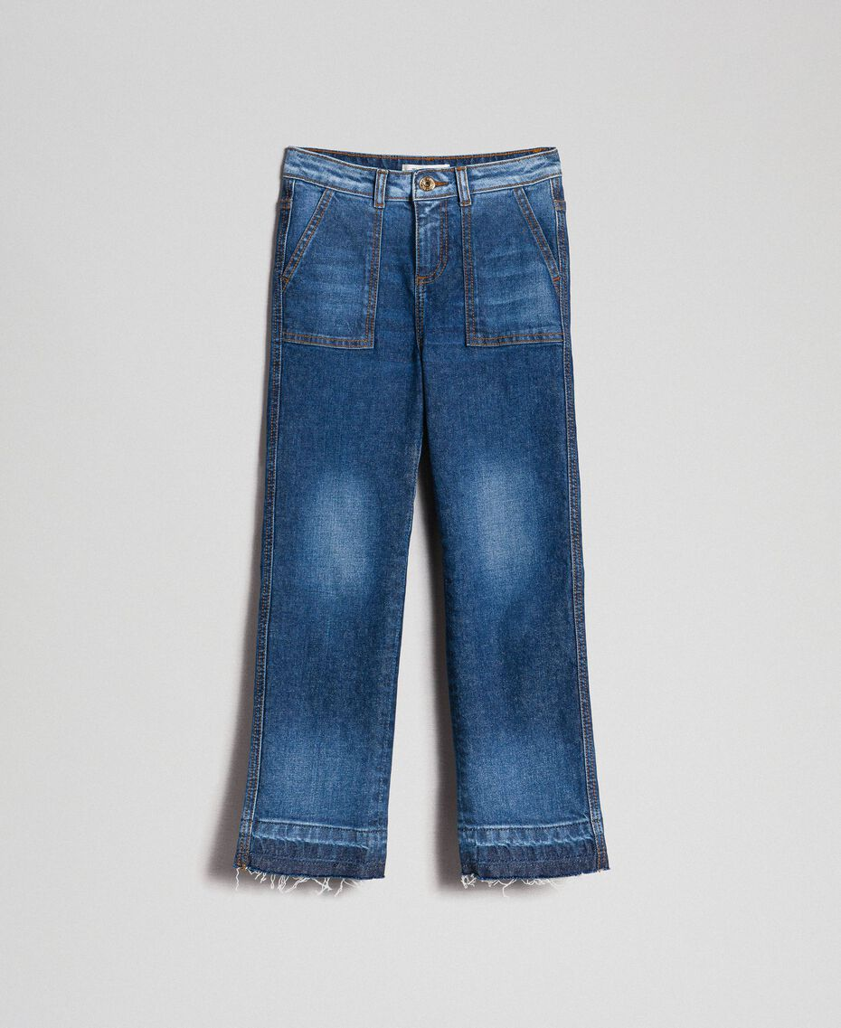 Fatigued jeans with pockets Mid Denim Child 192GJ2540-0S